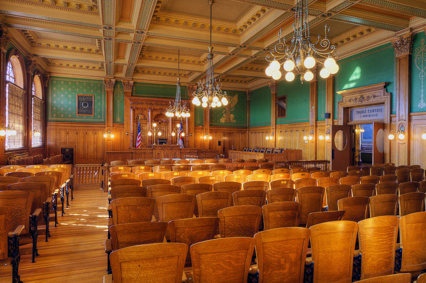 Colorado Springs Pioneers Museum Courtroom