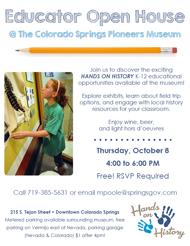 Educator Open House @ Colorado Springs Pioneers Museum | Colorado Springs | Colorado | United States