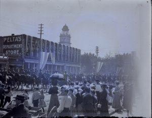 Parade in Colorado Springs ca. 1900