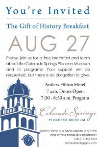2015 Gift of History Breakfast @ Antlers Hilton | Colorado Springs | Colorado | United States