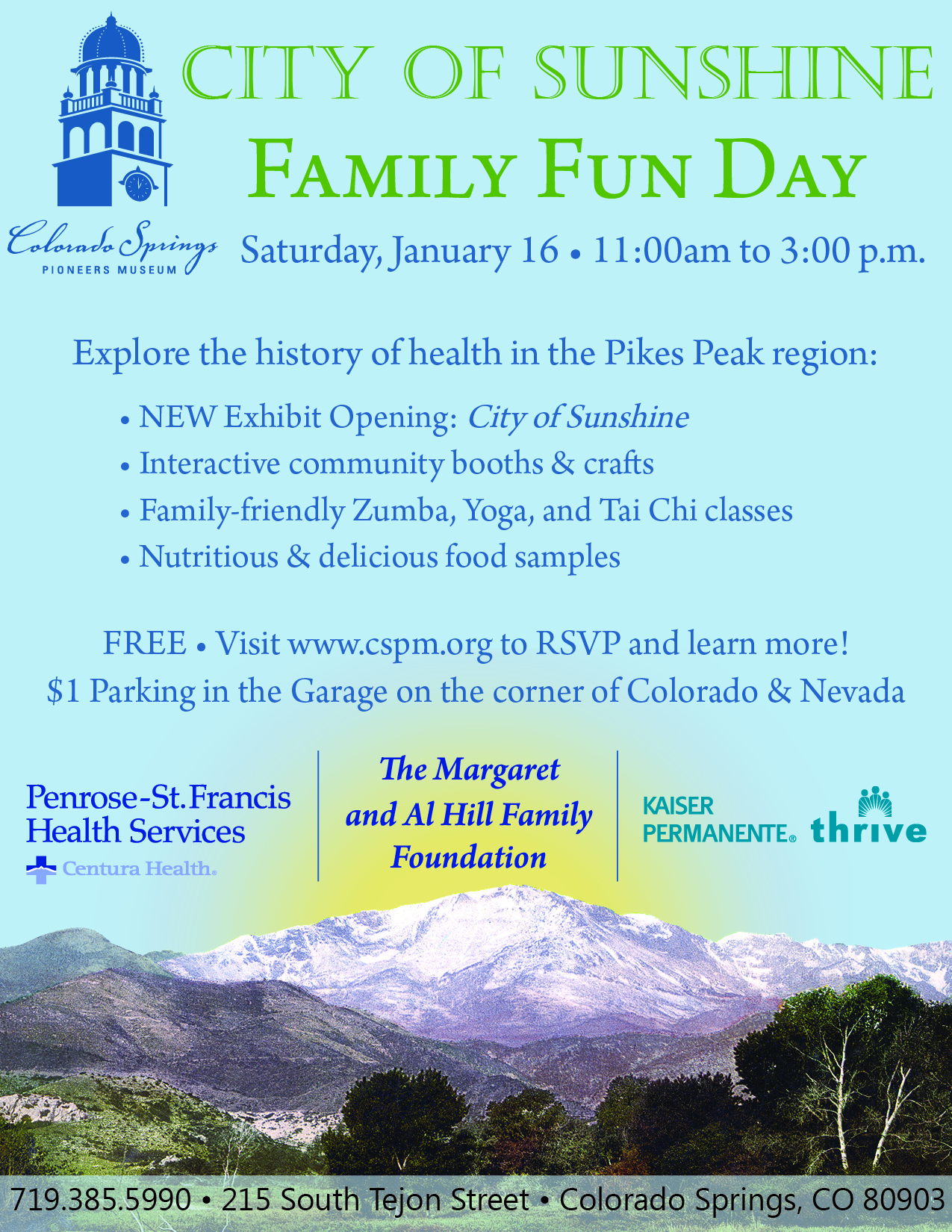 Colorado springs pioneers museum blog archive city of sunshine cos family fun day flyer the colorado springs malvernweather Images