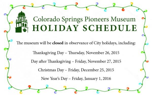 Holiday Schedule Banner