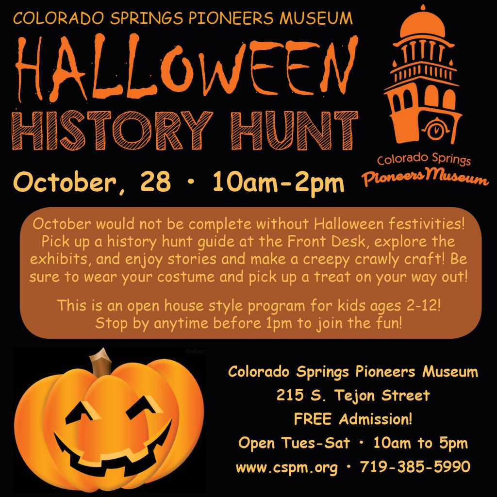 Halloween History Hunt @ Colorado Springs Pioneers Museum | Colorado Springs | Colorado | United States