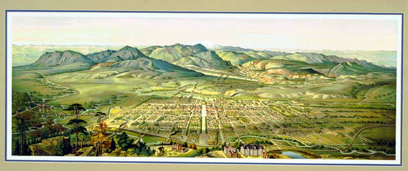 Artist drawing of the Pikes Peak Area