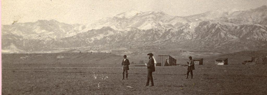 Historic Photo of Surveying Colorado Springs in 1871