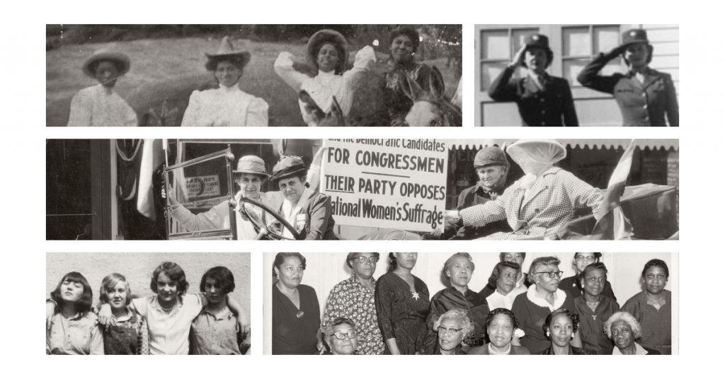 Photo Collage of Historic Images with Women from the CSPM Collection