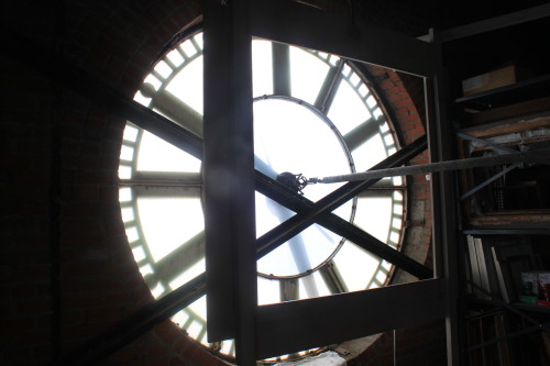 Inside of the Clock Face in the Clock Tower