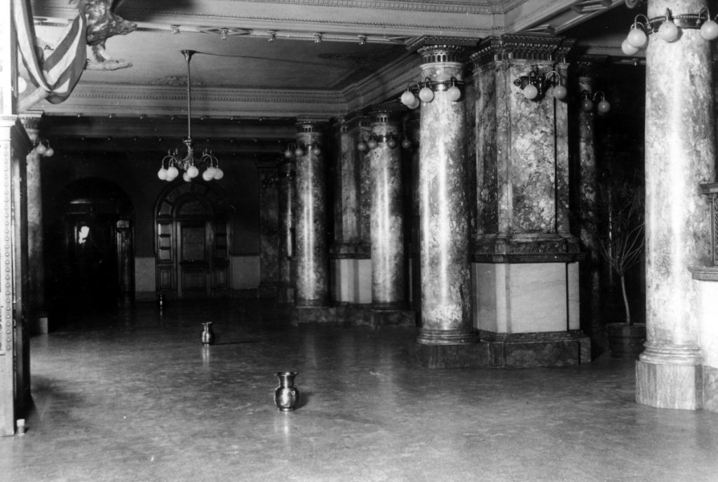 Spittoons were placed throughout the El Paso County Courthouse to prevent the spread of germs, 1912