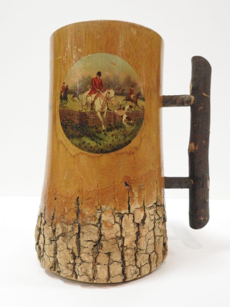 Wooden Beer Mug, ca. 1900. Generously Donated by David W. Haskin, 2000.0056.0002.
