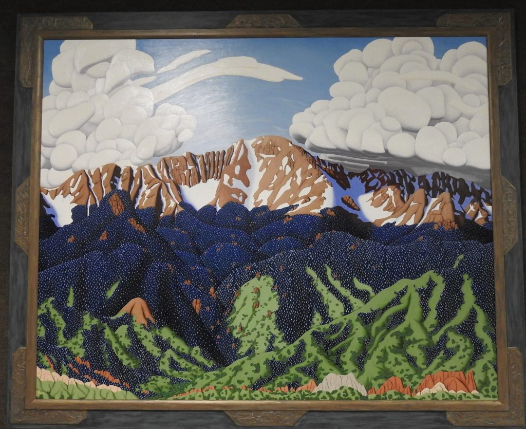 Pikes Peak, Oil on Canvas by Tracy Felix, 2004. CSPM Collection, 2004.102.1