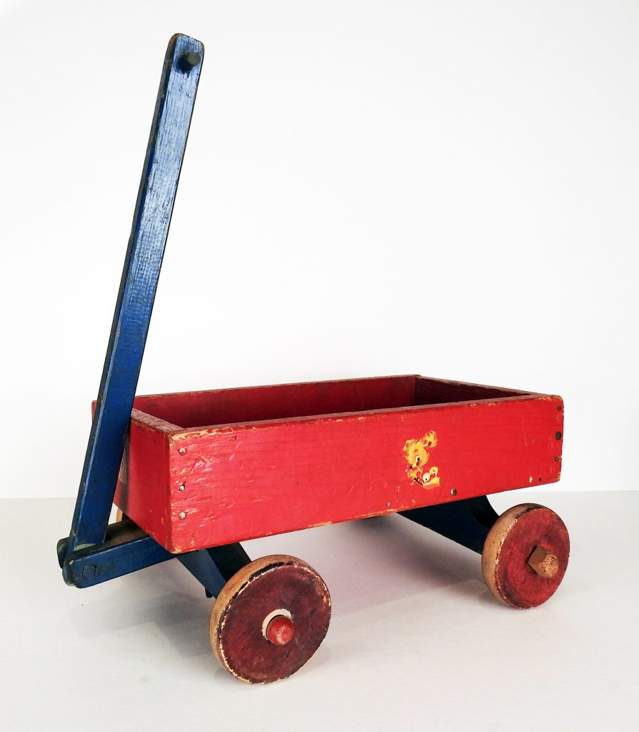 Toy Wagon, 1943. Generously donated by Georgeanne Roe in memory of her parents, George and Lois Haun, 2008.70.1.