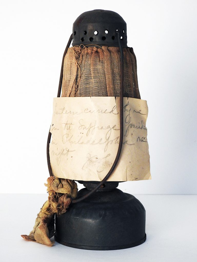Philadelphia Suffrage Parade Lantern, early 20th Century, Generously Donated by the Estate of Barbara Tyler, 2008.8.122.