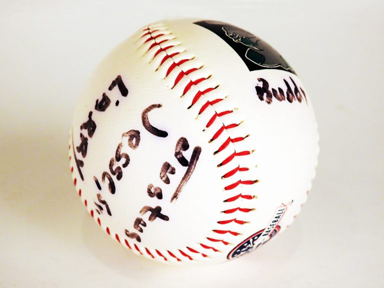 Baseball signed by Brown Bombers, 1999, CSPM Collection, 2009.19.17.