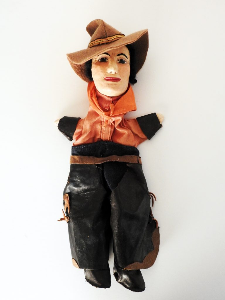 Puppets Representing Historical Figures of the Pikes Peak Region, 1935-1939. Generously donated by Gwen Giddens, Learning Resources Center, CSSD 11.