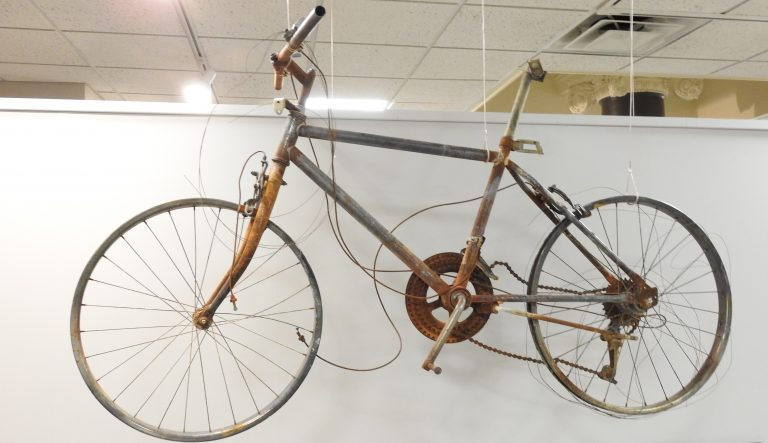 Burned Bicycle from the Waldo Canyon Fire, 2012. Generously Donated by William W. Poley, 2013.4.1