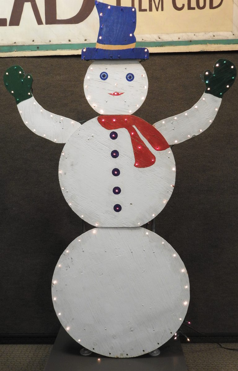 Wooden Snowman, by Joan and John Knull, ca. 1975, Generously Donated by Mrs. Joan Knull, 2014.3.14MU