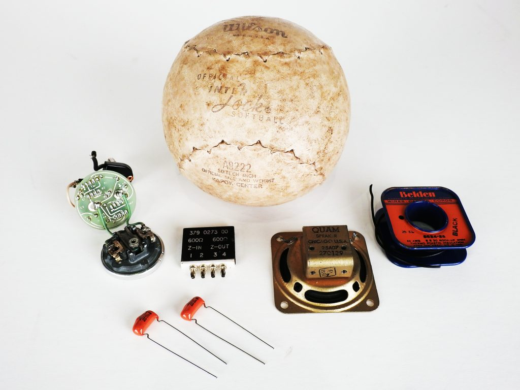 Beep Ball Prototype with Speaker Components, ca. 1965-1970. Generously donated by Pat Sopp, 2018.11.155.