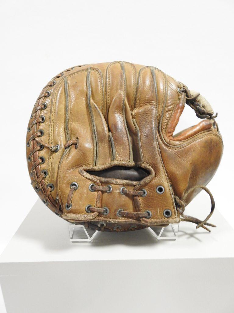 "Dominico T. ""Nick"" Venetucci's Catcher's Mitt, ca. 1935, Generously Donated by Susan Gordon, 2018.15.7."
