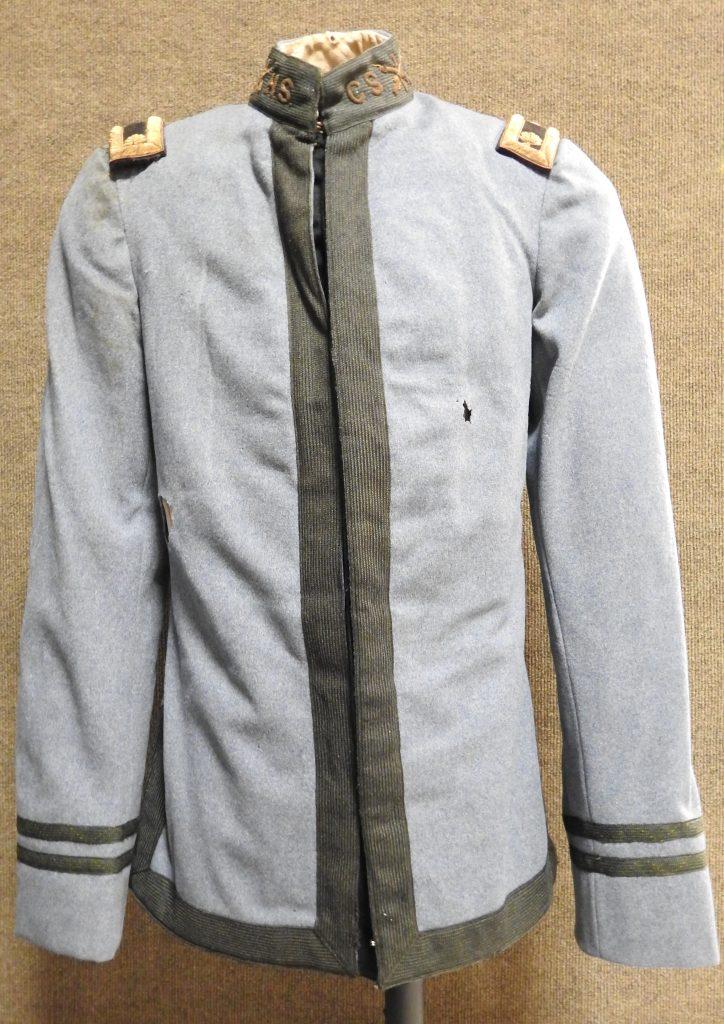 Colorado Springs High School Cadet Uniform Jacket, 1901. Generously donated by Connie Jones Pillsbury, 2018.0100.0001a