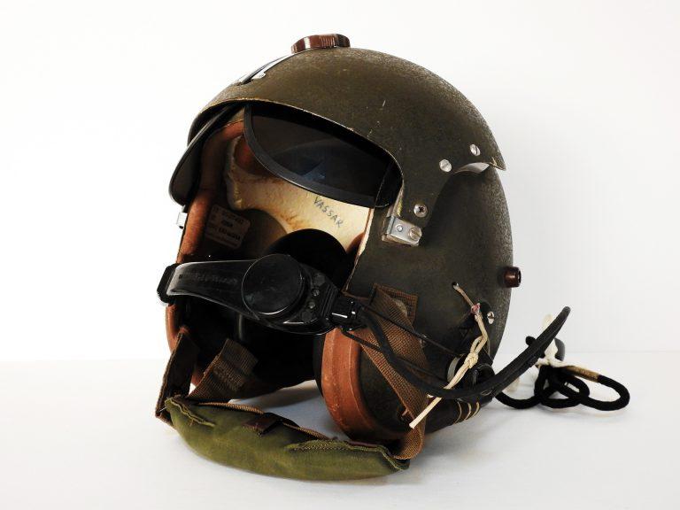 Flight Helmet, ca. 1965. Generously donated by Pete Vassar, 2018.97.3.