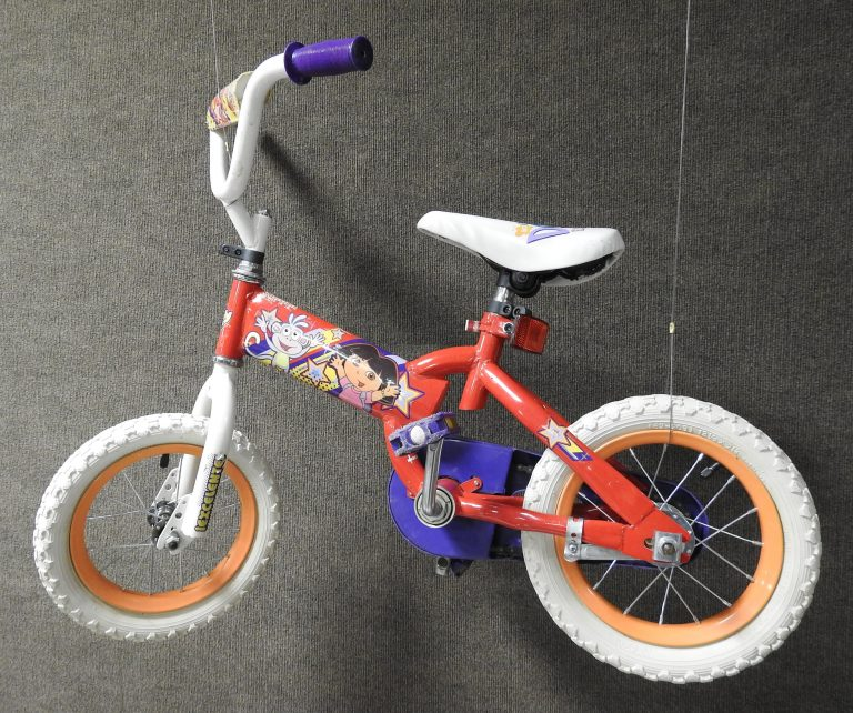 Dora the Explorer Bicycle, 2010. Generously Donated by Brier Witherow, 2020.70.9.