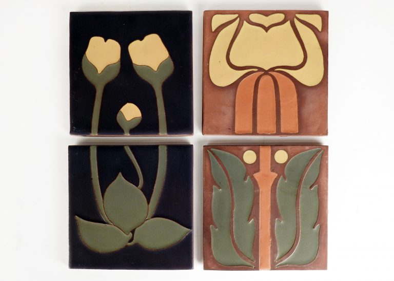 Van Briggle Tiles, 2009. Generously donated by Downtown Partnership, 2020.81.1.