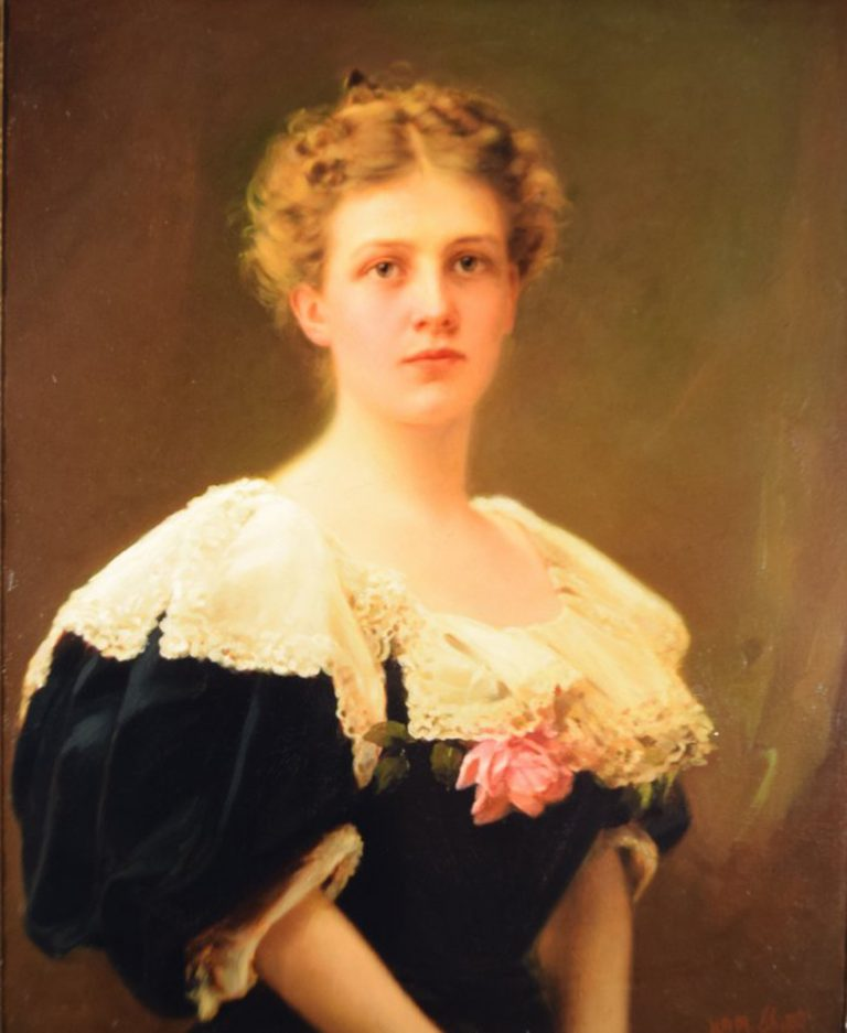 Julie Penrose, Oil on Canvas by William M. Shettle, 1908. Generously donated by Mrs. Julie Penrose, 41-162.