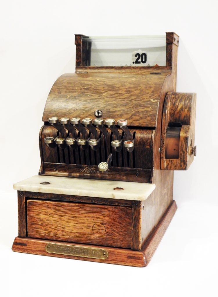 Cotton Club Cash Register, ca. 1950. Generously donated by Fannie Mae Duncan, 75-90-5.