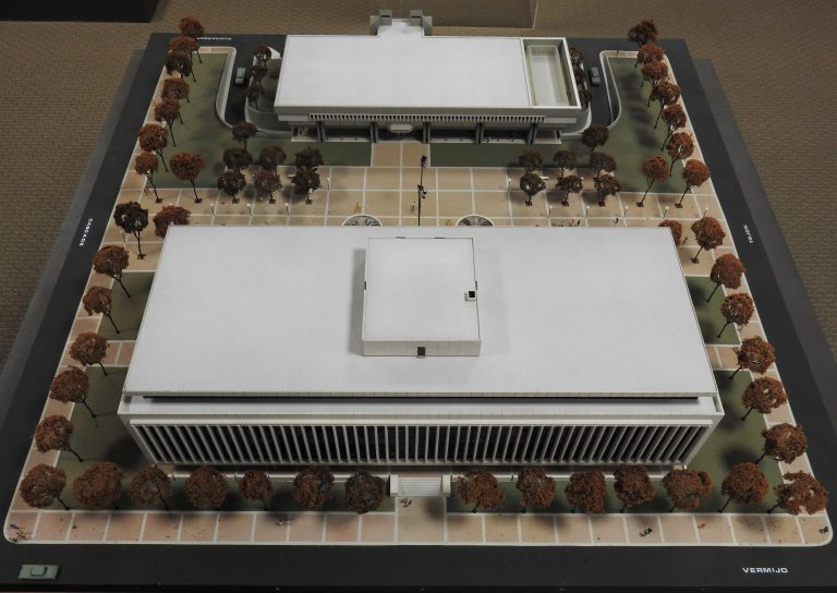 Architect's Model for the El Paso County Courthouse and Jail, ca. 1968. Transfer from the Facilities Management Department, 89.114.1