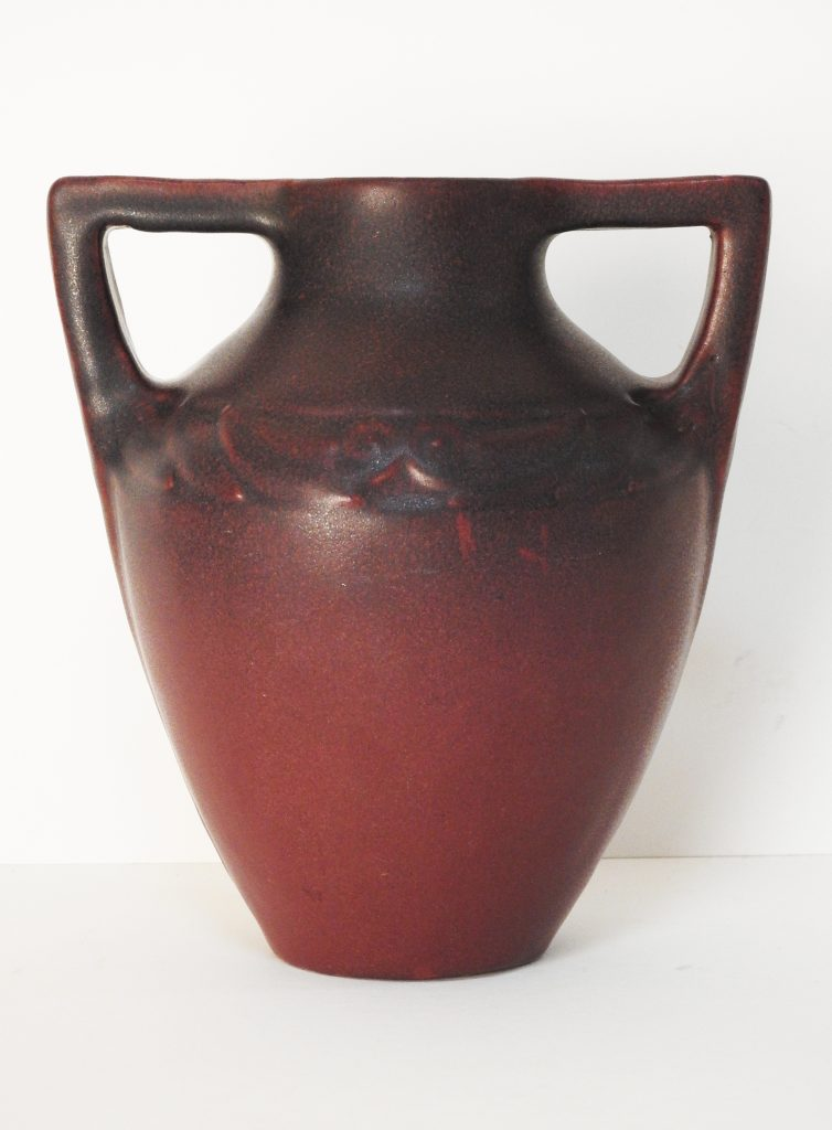 Van Briggle Vase designed by Anne Gregory Van Briggle, Pattern # 780 ca. 1915. Generously Donated by the El Paso County Commissioners.