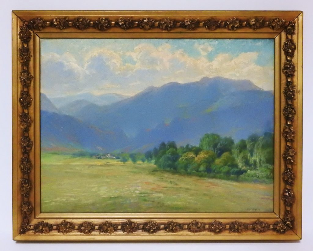 Entrance to Cheyenne Canyon from Broadmoor, ca. 1910, Oil on Canvas by William H. Bancroft. Generously Donated by Florence K. Lawrie.
