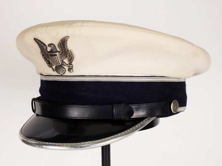 U.S. Air Force Cadet Summer Service Cap ca. 1965. Generously Donated by Rick Folsom, 994.288.27.