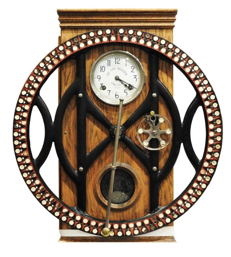 Time Clock from Hibbard's Department Store, ca. 1888. Generously donated by Mr. Ralph Hibbard, 997. 40.14.