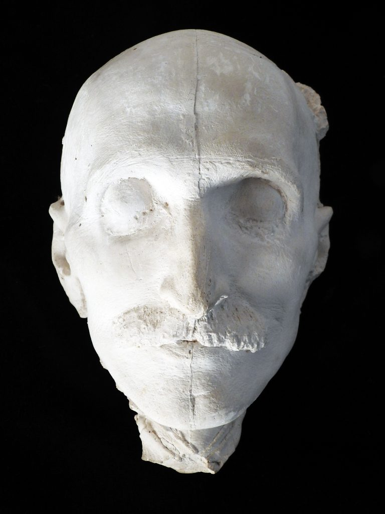 Death Mask of Winfield Scott Stratton, by Artist by Nellie Walker, 1902. Generously Donated by the Myron Stratton Home.
