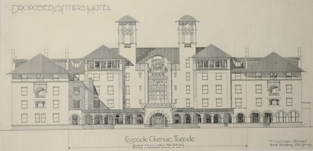 Thomas MacLaren Architectural Drawing, 1899. Generously Donated by Edward L. Bunts.