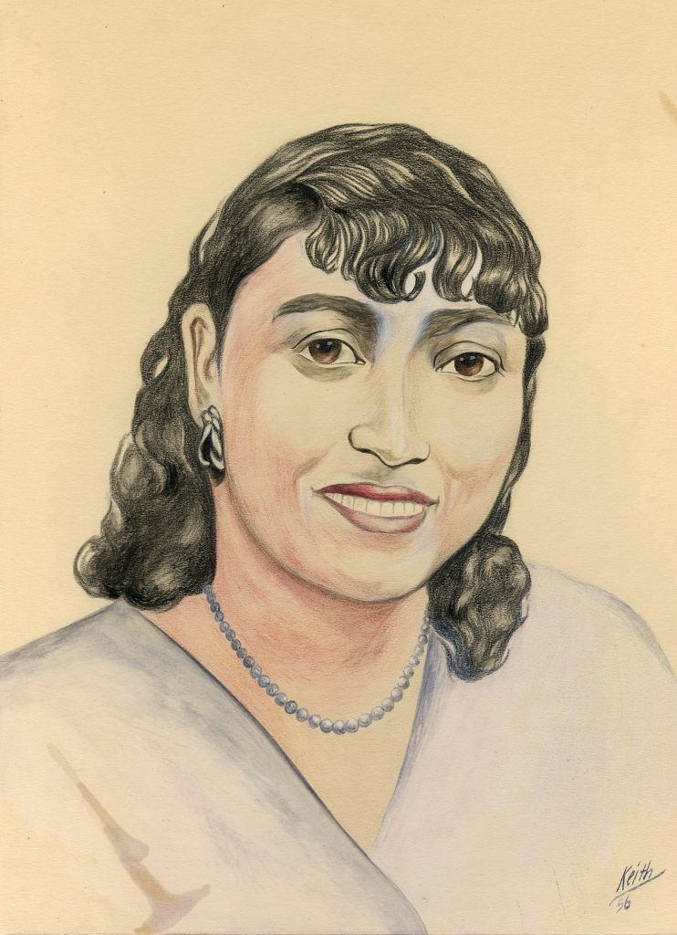 """Reproduction of """"Mama"""" Susie Perkins Portrait, ca. 1965. Generously Loaned by Brianne Smith."""