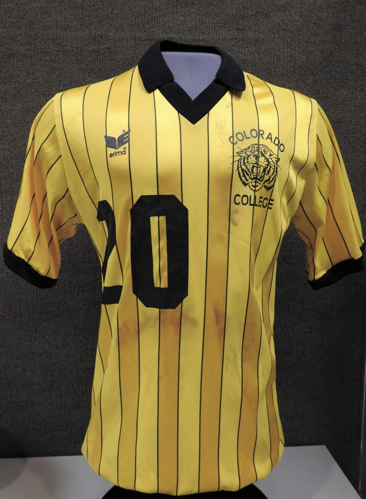 Colorado College Soccer Jersey, ca. 1975, Generously Loaned by Tim and Cate Boddington