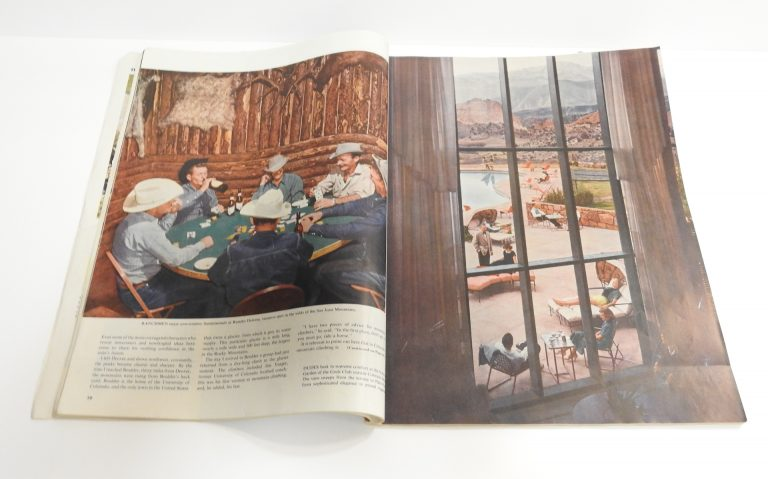 Holiday Magazine featuring Garden of the Gods Club, 1952. Generously Loaned by Lyda Hill.