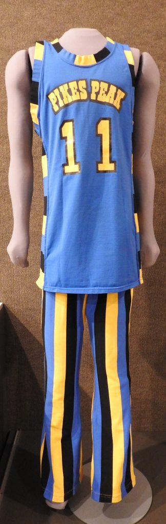 Aardvark Basketball Uniform, ca. 1980, Generously Loaned by Pikes Peak Community College.