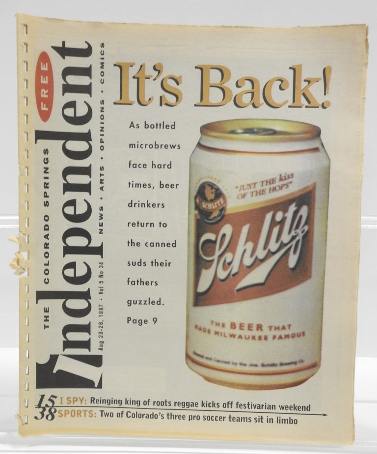The Independent, August 20-25, 1997, vol. 5 No. 34, Generously Loaned by the Colorado Springs Independent.