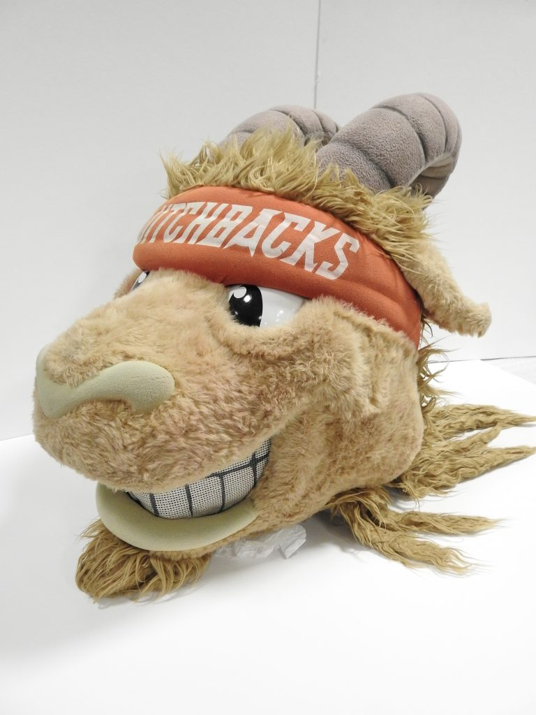 "Colorado Springs Switchbacks Football Club ""Ziggy"" Mascot, ca. 2015, Generously Loaned by the Switchbacks"