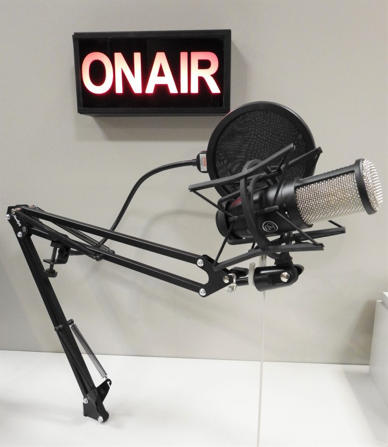"""Microphone & """"On Air"""" Sign, 2020, CSPM Collection."""